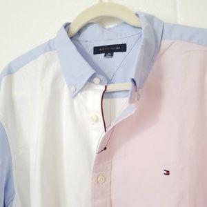 Tommy Hilfiger Large L/S Button uShirt Color Block